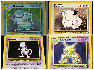 Base Set 2 Pokemon Cards RARES BLASTOISE SHINYS HOLOS CHARIZARD