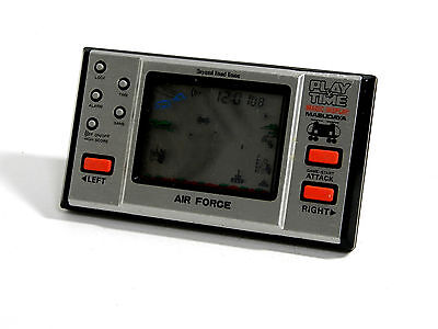 """80s Retro Masudaya LCD Game Watch """"Play & Time"""" Air Force MIJ Good Condition_38"""