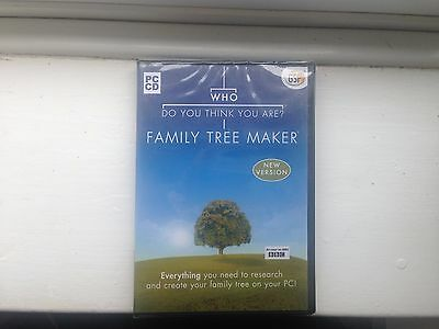 Who Do You Think You Are Family Tree Maker Pc Cd Brand New And Sealed
