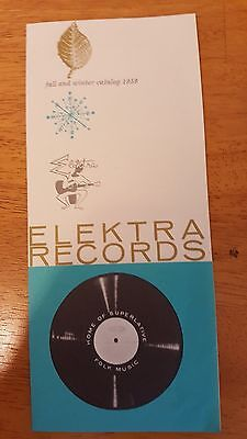 Elektra Records Fall & Winter Catalog 1959 Price Guide Pamphlet COLLECTORS ITEM!
