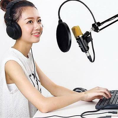 Condenser Microphone Professional Studio Sound Recording W/Boom Stand Pop Filter