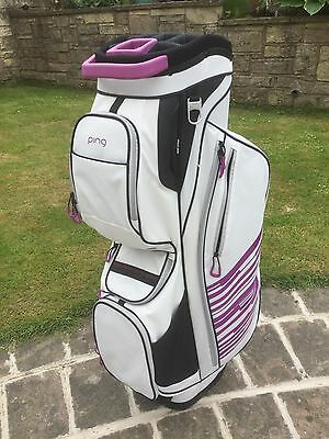 Ladies Ping Golf Bag Trolley Bag Cart Bag BRAND NEW White & Pink