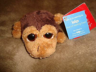 "Russ Lil Peepers Monkey Duggleby 6"" long Plush & Beans W/Tags"