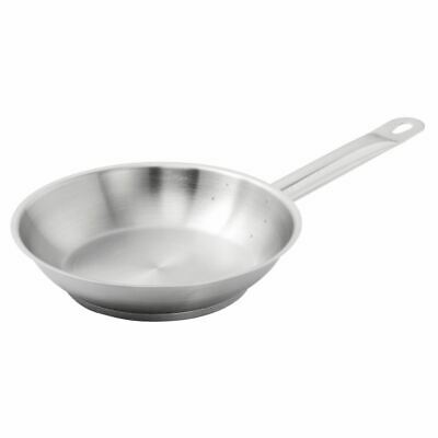 Vogue Stainless Steel Fry Pan Frying Kitchenware Cookware Restaurant Commercial