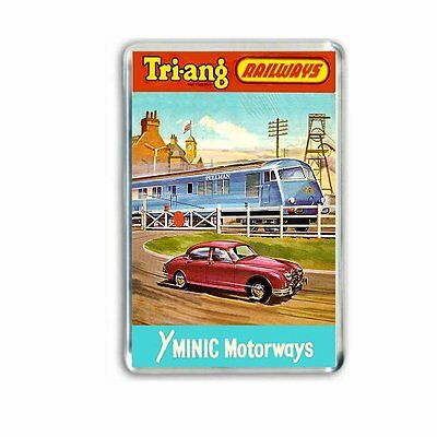 Retro - Triang Minic Motorways+ Blue Pullman  Art -Jumbo Fridge/ Locker Magnet