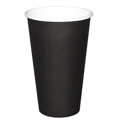 Olympia Disposable Black Hot Cups Tea Cool Drinks Party Restaurant Catering