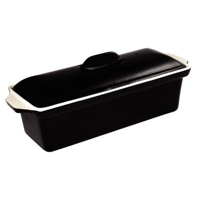 Vogue Black Pate Terrine Cast Iron Pan Dish Cookware Kitchenware Non Stick