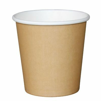 Olympia Takeaway Espresso Cup Kraft 115ml Coffee Tea Water Hot Drink Disposable