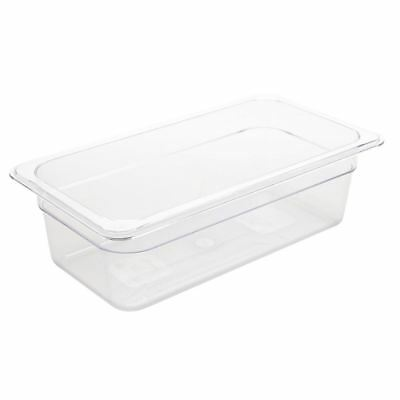 Vogue Polycarbonate 1/3 Gastronorm Container Clear Kitchen Food Storage Box