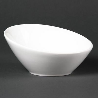 6 X Lumina Fine China Oval Sloping Bowls Kitchen Serving Dishes Tableware