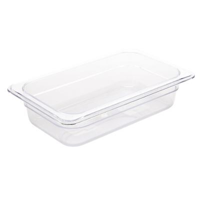 Vogue Polycarbonate 1/4 Gastronorm Container Clear Kitchen Food Storage Box