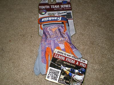Detroit Tigers YOUTH SZ MEDIUM MLB TEAM SERIES BATTING GLOVES NEW IN PACKAGE