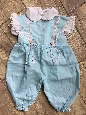 NWOT Tiny Tots Originals Set Lot Girl Vintage Romper Flutter 6-9m Classic Belle
