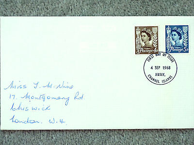 08]   FIRST DAY COVER - CHANNEL ISLANDS - 4d / 5d - POSTED JERSEY - 4 SEPT 1968