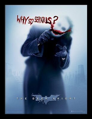The Dark Knight - Why So Serious? - 30 x 40cm Framed Poster Print FP11477P