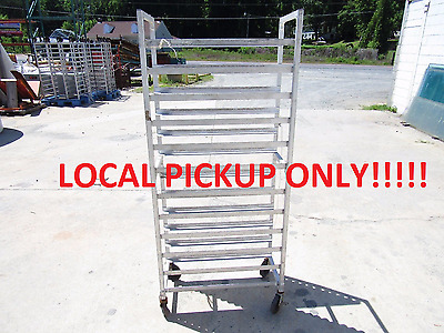 "Aluminum Bakery Cart 13"" Cooling Cart Bakers Rack 12 Slide Half Sheet ***fair***"