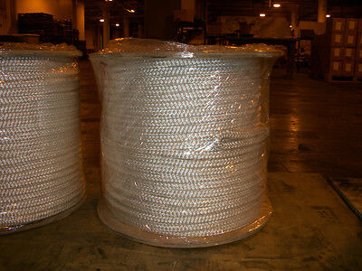 "3/4"" x 300' Polyester Double Braid cable pulling rope w/ 6"" eyes on each end"