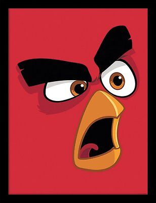 Angry Birds Movie - Red - 30 x 40cm Framed Poster Print FP11662P