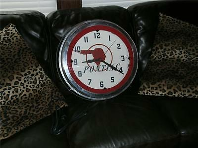 "Vintage 21""  Pontiac  Neon  Dealership Wall Clock.,.neocraft Made"