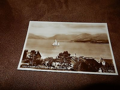 Real Photo postcard-Loch Striven Rothesay - Isle of Bute -Argyll & Bute-Scotland