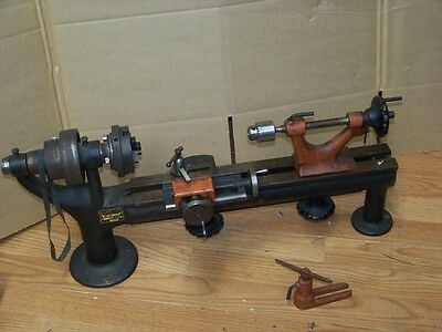 Vintage No 125 Goodell-Pratt Toolsmiths Lathe No. 132 Cross Slide Original Chuck