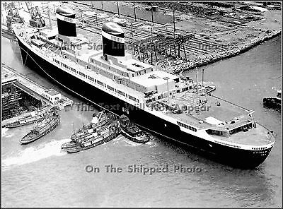 Poster Print: SS United States Launched From Newport News Drydock, 1951