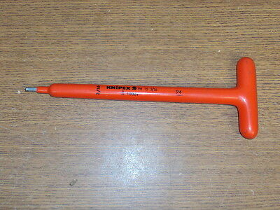 """KNIPEX No 98 15 Insulated Hex Key 3/16"""" 1000V Allen Wrench"""