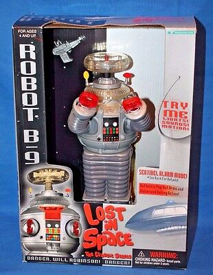 "Lost in Space Robot B-9 12"" Tall Trendmasters in Box With Original Receipt"