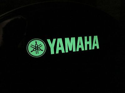 """VERY RARE YAMAHA 22"""" BASS DRUM HEAD w/ Factory Glow-In-The-Dark LOGO by Remo USA"""