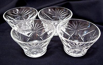 4 Anchor Hocking Glass Early American Prescut Custard Dishes Eapc