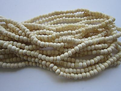 Buffalo Bone Round Beads Off White  6mm or 8mm Jewelry Crafts 1 strand
