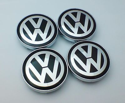 60mm VW Volkswagen Alloy Wheel Centre Hub Caps x4 Golf Polo Passat Lupo