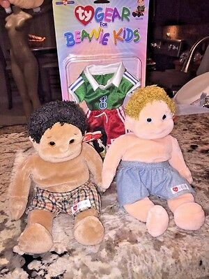 Retired Ty Beanie Kids Rascal And Boomer Lot And Gear  Mint With Tags
