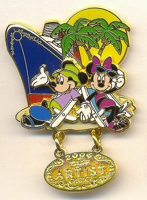 Disney Cruise Line DCL Artist Choice Mickey and Minnie Castaway Cay LE Pin