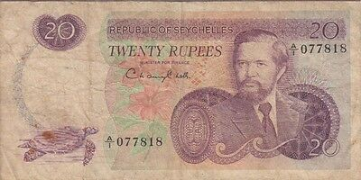Seychelles Banknote P# 20  20 Rupees Very Good/ Fine