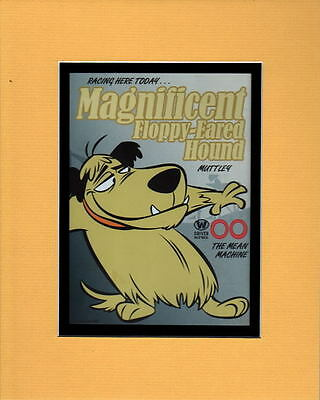 WACKY RACES MAGNIFICENT FLOPPY-EARED HOUND PRINT PROFESSIONALLY MATTED Muttley
