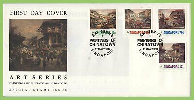 Singapore 1989 Paintings of Chinatown by Choo Keng Kwang set First Day Cover