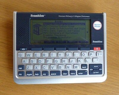 Franklin SCD-1890 Electronic Talking Dictionary Thesaurus Quotations Translator