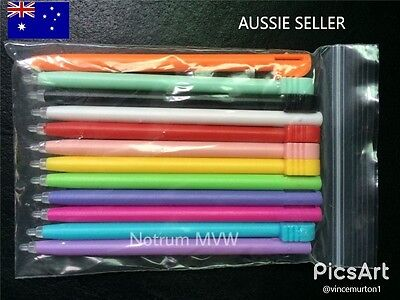 3x Nintendo Stylus Pen NDS - DS Lite NDSL Game Console Coloured Plastic