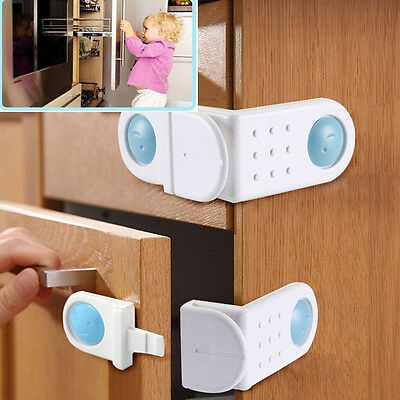 2Pcs Toilet Door Cabinet Drawer Cupboard Locks Baby Safety Lock Closet Locker