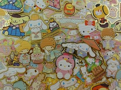 50 Sanrio Hello Kitty Little Twin Stars Purin Cinnamoroll flake sack stickers