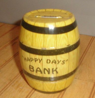 HAPPY DAYS BANK J.CHEIN TIN LITHO VINTAGE 1930s FDR Prohibition Repeal no plug