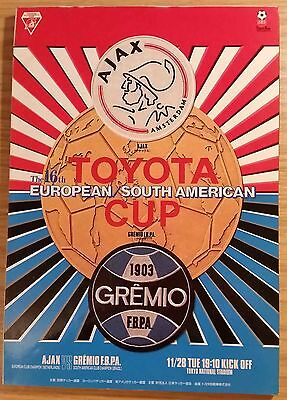 1995 Toyota Cup Final Programme - Ajax v Gremio