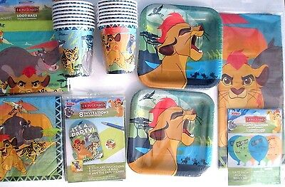 THE LION GUARD Disney Jr.Lion King Birthday Party Supply DELUXE w/Balloons