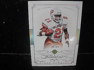 2015 Panini National Treasures College #16 Barry Sanders /20  FLAWLESS DIAMOND!