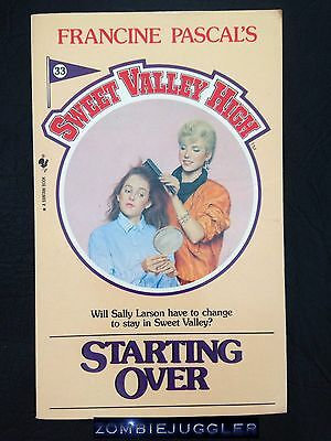 SWEET VALLEY HIGH #33 Starting Over FREE POST Book