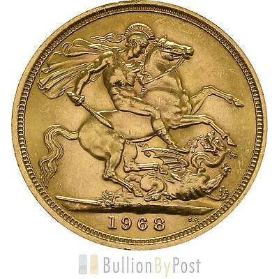 1968 Gold Full Sovereign - Elizabeth II Young Head