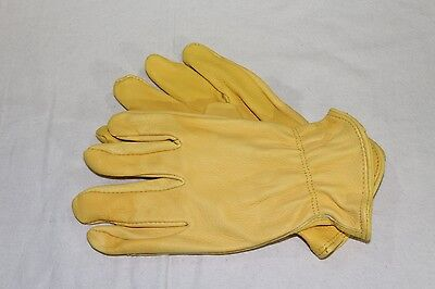 Thick Deerskin Leather Driver Construction Work Gloves X-Large XL / 2XL XXL
