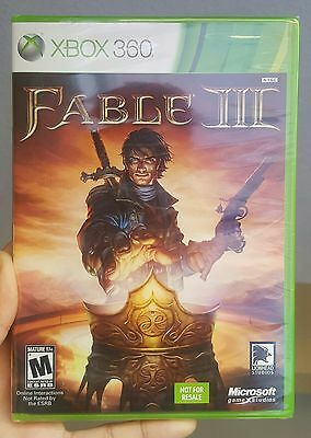 Fable III 3 for Microsoft Xbox 360 Brand New Factory Sealed & In Mint Condition