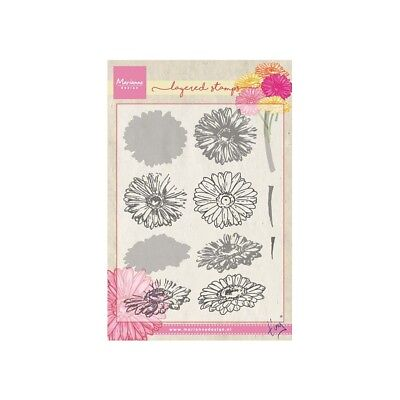 Marianne Design Tiny's Gerbera Clear Layering Stamps TC0853